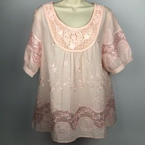NWT Lauren Michelle Embellished Top - Large